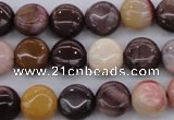 CMK135 15.5 inches 8mm flat round mookaite beads wholesale