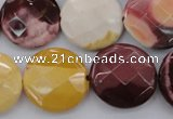 CMK160 15.5 inches 20mm faceted coin mookaite beads wholesale