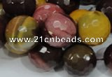 CMK18 15.5 inches 20mm faceted round mookaite beads wholesale