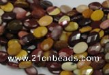 CMK22 15.5 inches 8*12mm faceted oval mookaite beads wholesale