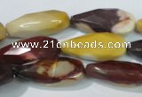 CMK229 15.5 inches 12*28mm faceted teardrop mookaite gemstone beads