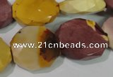 CMK237 15.5 inches 21*23mm faceted nuggets mookaite gemstone beads