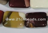 CMK267 15.5 inches 18*25mm rectangle mookaite gemstone beads