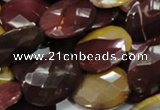 CMK27 15.5 inches 22*30mm faceted oval mookaite beads wholesale