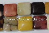CMK271 15.5 inches 15*15mm square mookaite gemstone beads