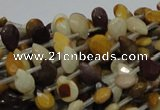 CMK29 15.5 inches 6*10mm faceted flat teardrop mookaite beads