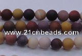 CMK291 15.5 inches 6mm round matte mookaite beads wholesale