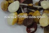 CMK31 15.5 inches 14*18mm faceted flat teardrop mookaite beads