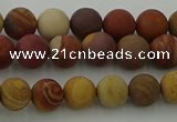 CMK310 15.5 inches 4mm round matte sunset mookaite beads