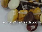 CMK32 15.5 inches 15*20mm faceted flat teardrop mookaite beads