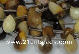 CMK34 15.5 inches 10*15mm faceted teardrop mookaite beads wholesale