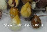 CMK35 15.5 inches 13*18mm faceted teardrop mookaite beads wholesale
