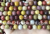 CMK353 15 inches 8mm faceted round mookaite beads wholesale