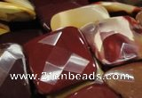 CMK44 15.5 inches 40*40mm faceted square mookaite beads wholesale