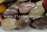 CMK50 15.5 inches 15*20mm faceted freeform mookaite beads wholesale