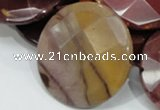 CMK55 15.5 inches 40mm faceted coin mookaite beads wholesale