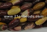 CMK66 15.5 inches 10*20mm rice mookaite gemstone beads wholesale