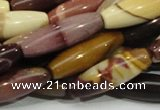 CMK67 15.5 inches 10*30mm rice mookaite gemstone beads wholesale