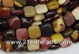 CMK77 15.5 inches 10*10mm square mookaite gemstone beads wholesale
