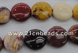 CMK87 15.5 inches 15mm flat round mookaite beads wholesale