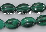 CMN104 15.5 inches 13*18mm oval natural malachite beads wholesale