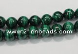 CMN151 AA grade 8mm round natural malachite beads Wholesale