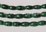CMN210 15.5 inches 5*9mm rice natural malachite beads wholesale