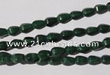CMN228 15.5 inches 4*6mm faceted teardrop natural malachite beads