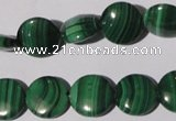 CMN253 15.5 inches 12mm flat round natural malachite beads wholesale