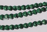 CMN255 15.5 inches 6*6mm heart natural malachite beads wholesale