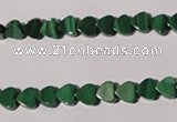 CMN260 15.5 inches 6*6mm heart natural malachite beads wholesale