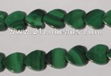 CMN262 15.5 inches 10*10mm heart natural malachite beads wholesale