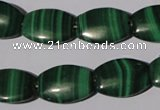 CMN268 15.5 inches 13*18mm flat drum natural malachite beads wholesale
