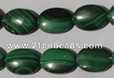 CMN273 15.5 inches 12*16mm oval natural malachite beads wholesale