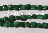 CMN291 15.5 inches 6*6mm square natural malachite beads wholesale