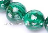 CMN30 AB grade 20mm round natural malachite beads Wholesale