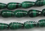 CMN415 15.5 inches 5*9mm teardrop natural malachite beads wholesale