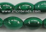 CMN420 15.5 inches 8*12mm rice natural malachite beads wholesale