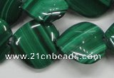 CMN428 15.5 inches 15*15mm heart natural malachite beads wholesale