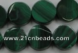 CMN430 15.5 inches 10mm coin natural malachite beads wholesale