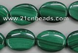 CMN435 15.5 inches 15*20mm oval natural malachite beads wholesale