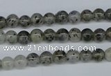 CMO02 15.5 inches 6mm round moss quartz beads wholesale