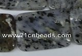 CMO17 15.5 inches 25*35mm rectangle moss quartz beads wholesale