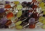 CMQ01 15.5 inches 6*8mm faceted oval multicolor quartz beads
