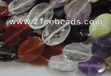 CMQ03 15.5 inches 10*14mm faceted oval multicolor quartz beads