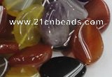 CMQ14 18*25mm twisted flat teardrop multicolor quartz beads