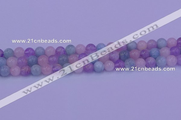CMQ352 15.5 inches 8mm round mixed quartz beads wholesale