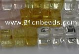 CMQ38 15.5 inches 5*8mm triangle mixed quartz beads wholesale
