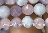 CMQ421 15.5 inches 6mm faceted round natural mixed quartz beads