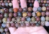 CMQ443 15.5 inches 10mm round mixed rutilated quartz beads